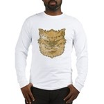 The Werewolf (Brown) (Distressed) Long Sleeve T-Sh