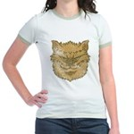 The Werewolf (Brown) (Distressed) Jr. Ringer T-Shi