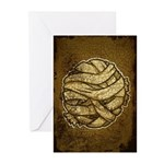 The Mummy (Distressed) Greeting Cards (Pk of 10)