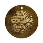 The Mummy (Distressed) Ornament (Round)