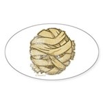 The Mummy (Distressed) Sticker (Oval 10 pk)