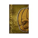 Jack-O'-Lantern (Distressed) Rectangle Magnet (10