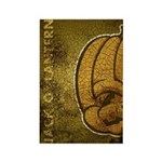 Jack-O'-Lantern (Distressed) Rectangle Magnet (100