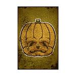 Jack-O'-Lantern (Distressed) Mini Poster Print