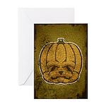 Jack-O'-Lantern (Distressed) Greeting Card