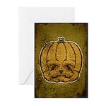 Jack-O'-Lantern (Distressed) Greeting Cards (Pk of