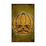 Jack-O'-Lantern (Distressed) Sticker (Rectangle)