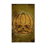 Jack-O'-Lantern (Distressed) Sticker (Rectangle 10