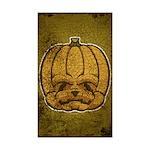 Jack-O'-Lantern (Distressed) Sticker (Rectangle 50
