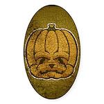 Jack-O'-Lantern (Distressed) Sticker (Oval 10 pk)