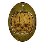 Jack-O'-Lantern (Distressed) Ornament (Oval)