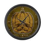 Jack-O'-Lantern (Distressed) Large Wall Clock