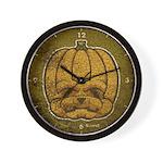 Jack-O'-Lantern (Distressed) Wall Clock