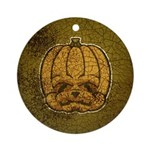 Jack-O'-Lantern (Distressed) Ornament (Round)