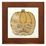 Jack-O'-Lantern (Distressed) Framed Tile