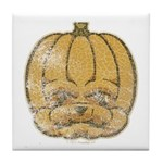 Jack-O'-Lantern (Distressed) Tile Coaster