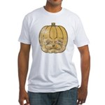 Jack-O'-Lantern (Distressed) Fitted T-Shirt