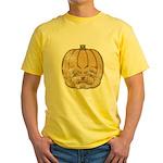 Jack-O'-Lantern (Distressed) Yellow T-Shirt