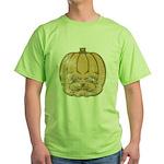 Jack-O'-Lantern (Distressed) Green T-Shirt
