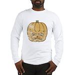 Jack-O'-Lantern (Distressed) Long Sleeve T-Shirt