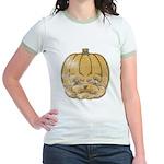 Jack-O'-Lantern (Distressed) Jr. Ringer T-Shirt