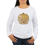 Jack-O'-Lantern (Distressed) Women's Long Sleeve T