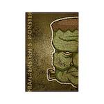 Frankenstein's Monster (Distressed) Rectangle Magn