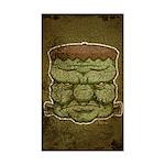 Frankenstein's Monster (Distressed) Sticker (Recta