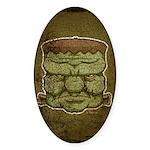 Frankenstein's Monster (Distressed) Sticker (Oval)