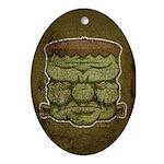 Frankenstein's Monster (Distressed) Ornament (Oval