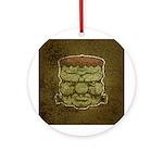 Frankenstein's Monster (Distressed) Ornament (Roun