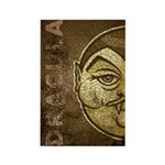 Dracula (Distressed) Rectangle Magnet
