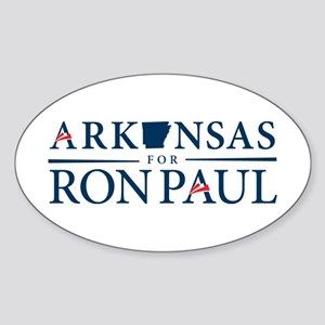 Arkansas for Ron Paul Sticker (Oval)