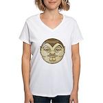 Dracula (Distressed) Women's V-Neck T-Shirt