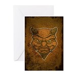 El Diablo (Distressed) Greeting Cards (Pk of 10)
