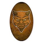 El Diablo (Distressed) Sticker (Oval)