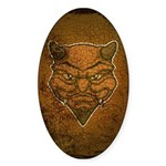El Diablo (Distressed) Sticker (Oval)