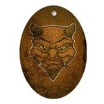 El Diablo (Distressed) Ornament (Oval)