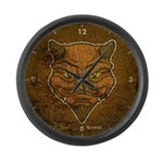El Diablo (Distressed) Large Wall Clock