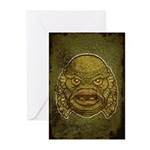 The Creature (Distressed) Greeting Cards (Pk of 10