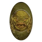 The Creature (Distressed) Sticker (Oval 10 pk)