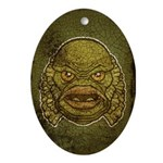 The Creature (Distressed) Ornament (Oval)