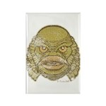 The Creature (Distressed) Rectangle Magnet (100 pa