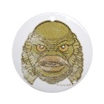 The Creature (Distressed) Ornament (Round)