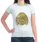 The Creature (Distressed) Jr. Ringer T-Shirt