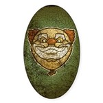The Clown (Distressed) Sticker (Oval 10 pk)