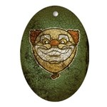The Clown (Distressed) Ornament (Oval)