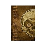 The Skull (Distressed) Rectangle Magnet