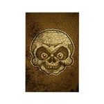 The Skull (Distressed) Rectangle Magnet (100 pack)