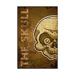 The Skull (Distressed) Mini Poster Print